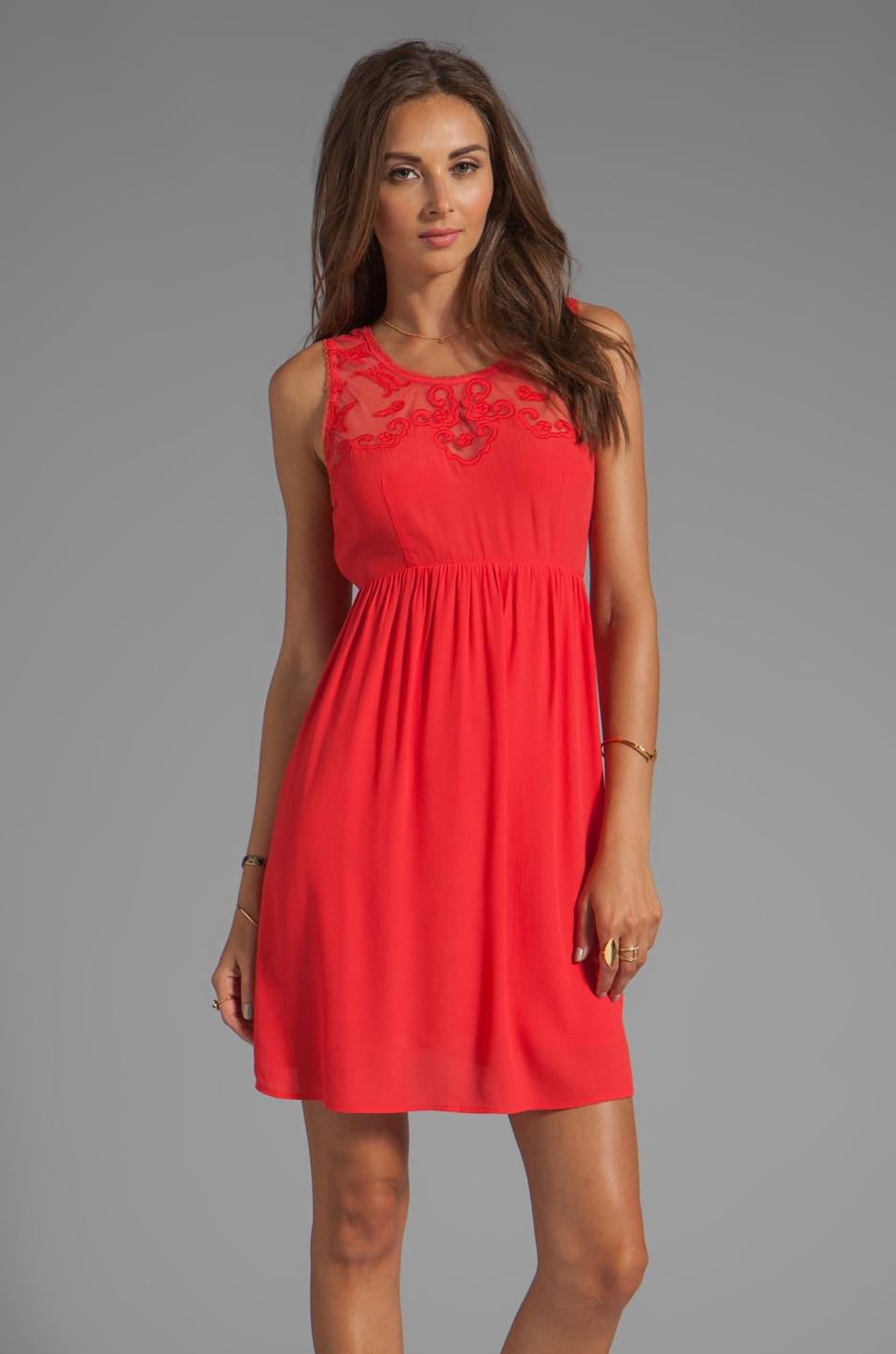 Ladakh Chantilly Dress in Blood Orange