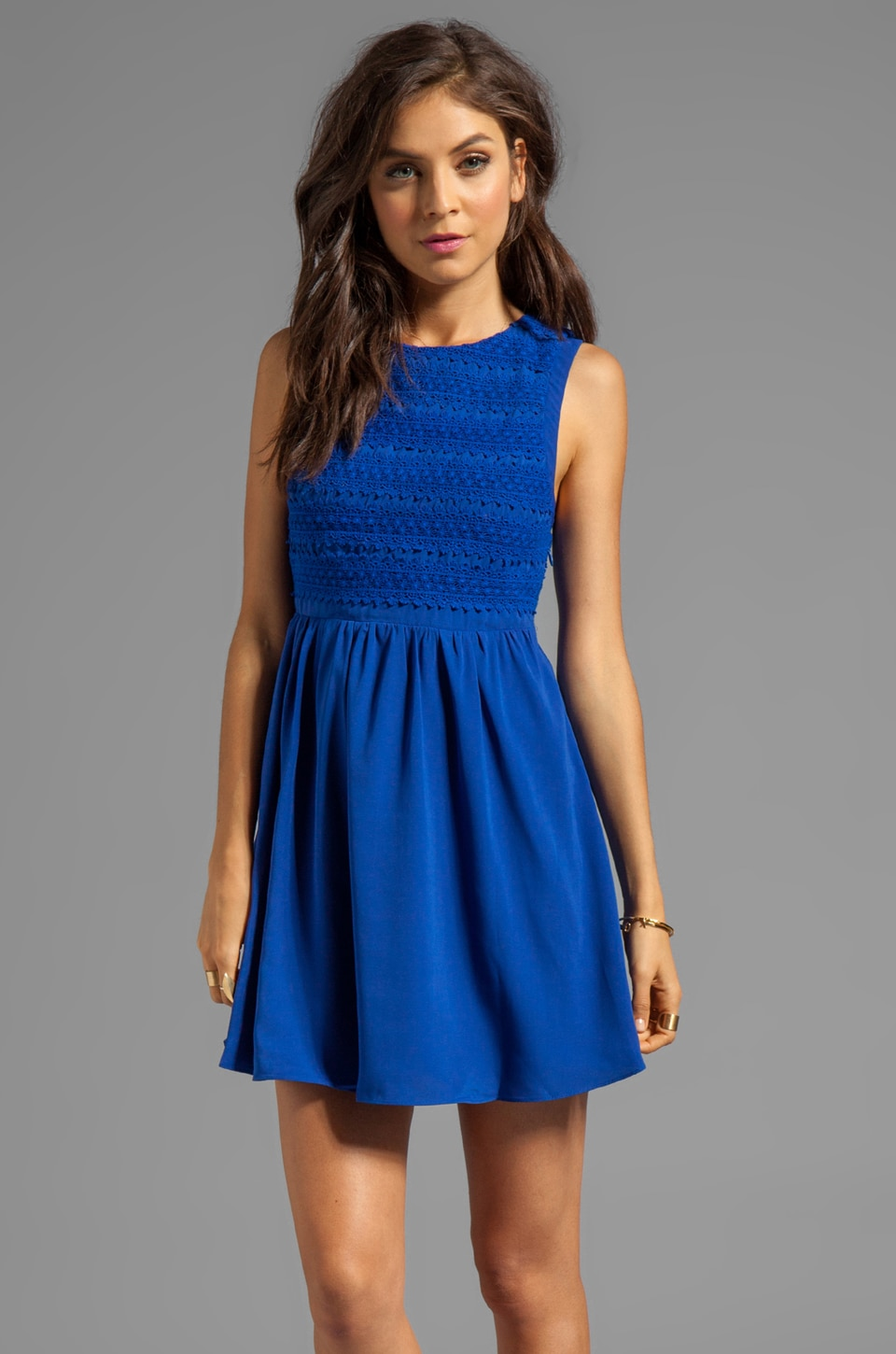 Ladakh Dream Lover Dress in Cobalt