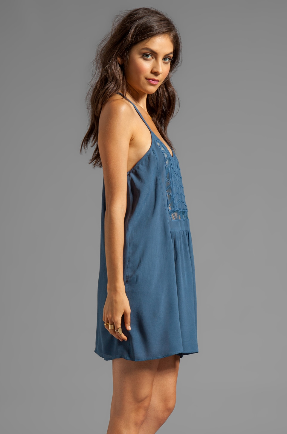 Ladakh Amazon Tribe Dress in Denim