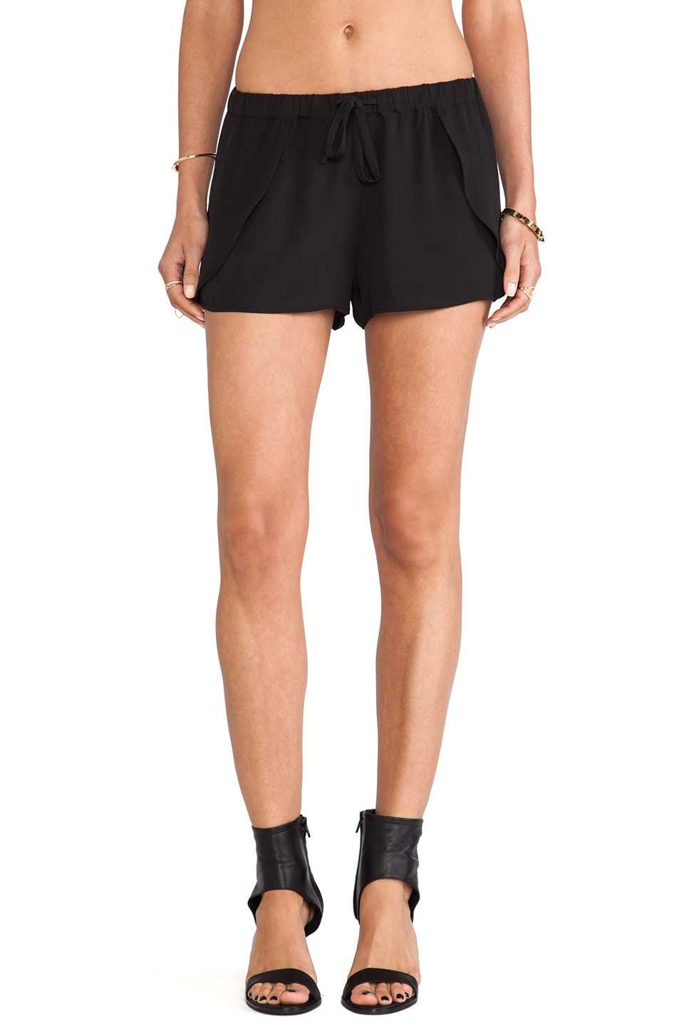 Ladakh Crepe Petal Short in Black