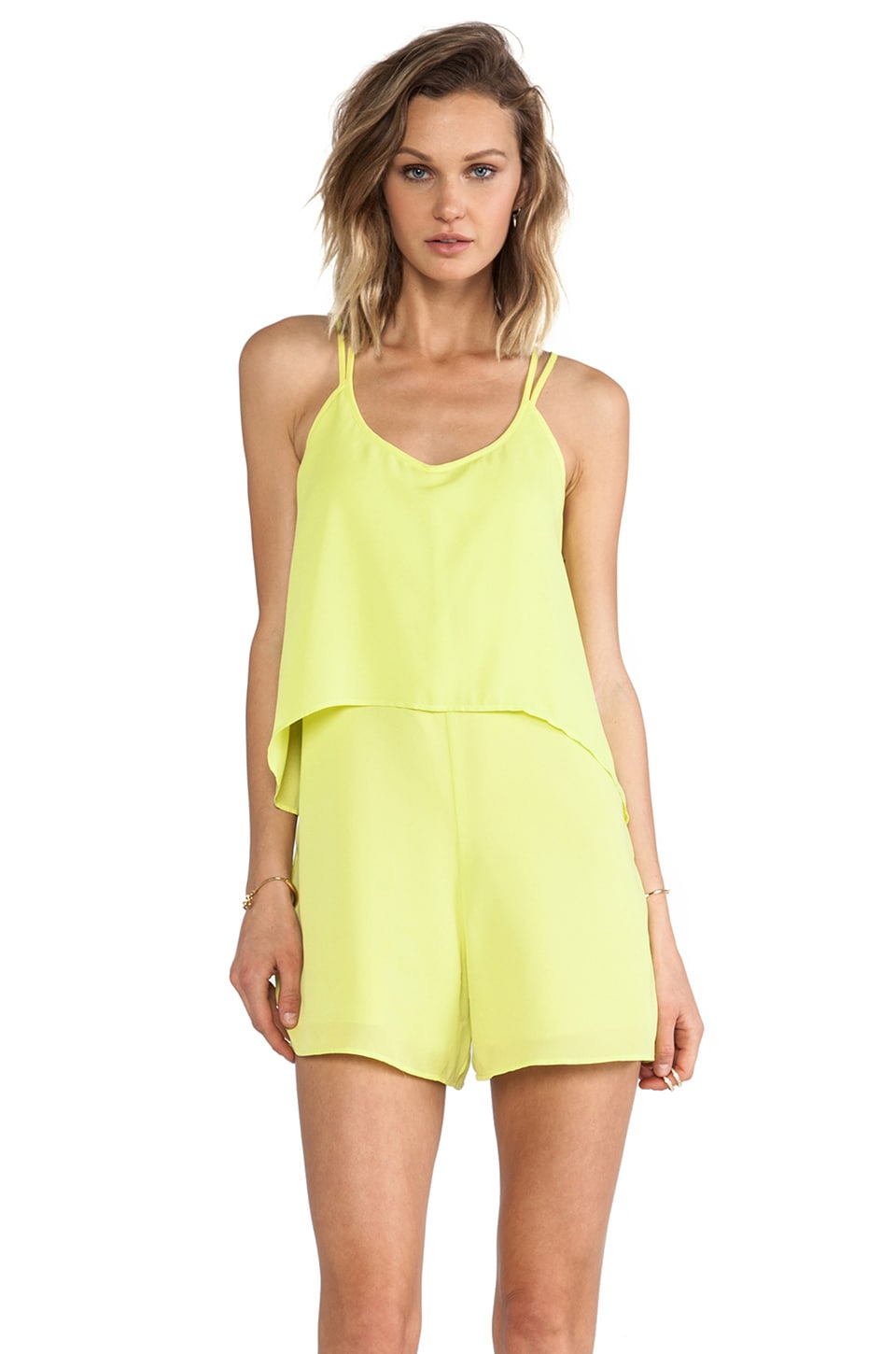 Ladakh Criss Cross Romper in Citrus
