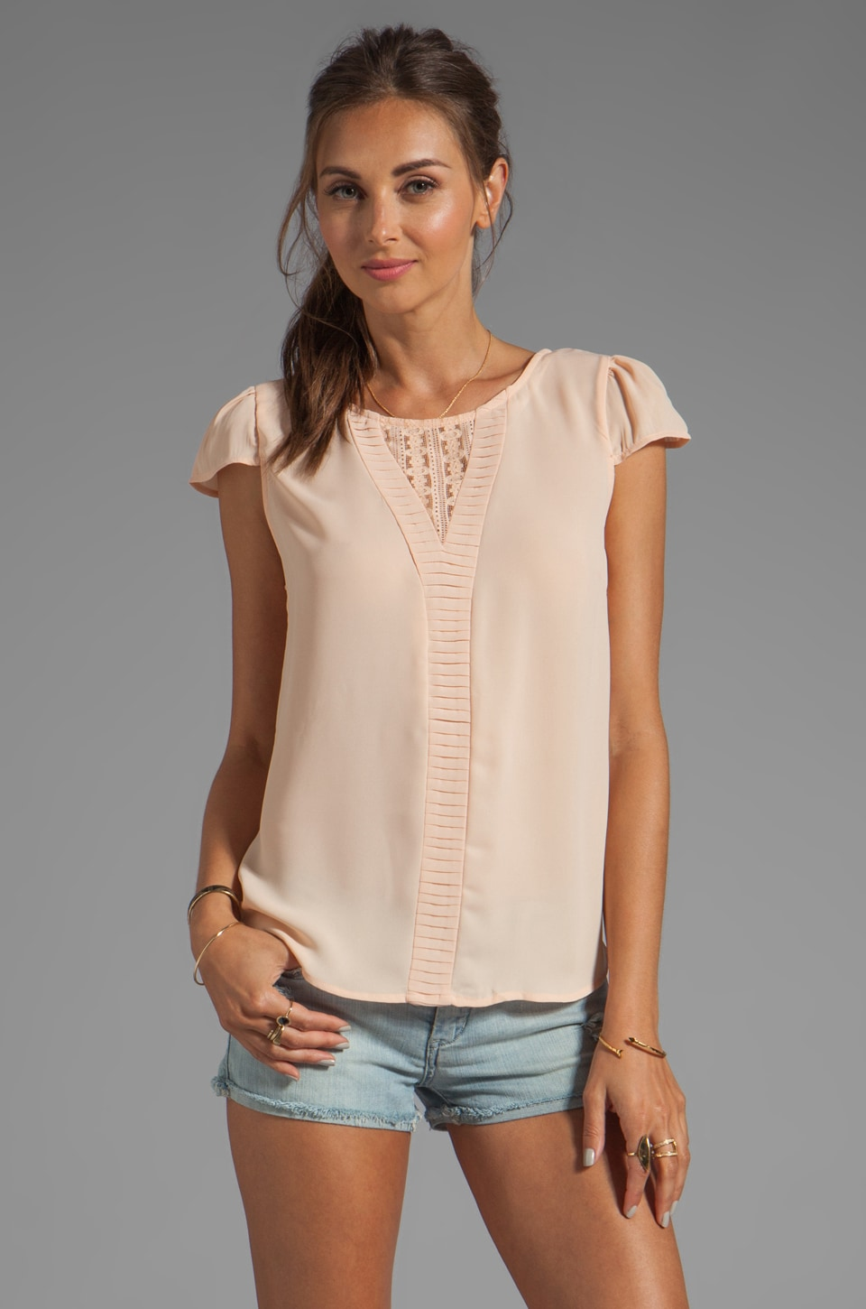 Ladakh Sweet Rose Top in Soft Peach