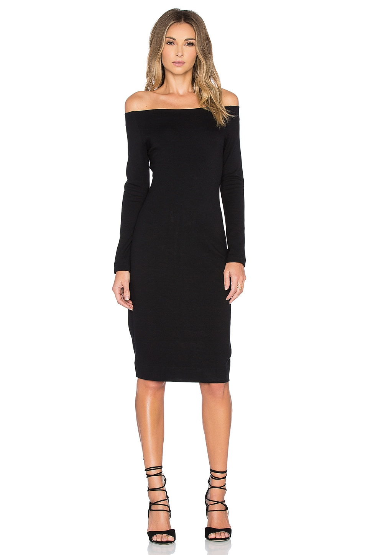 L&39AGENCE Daphne Off Shoulder Dress in Black  REVOLVE
