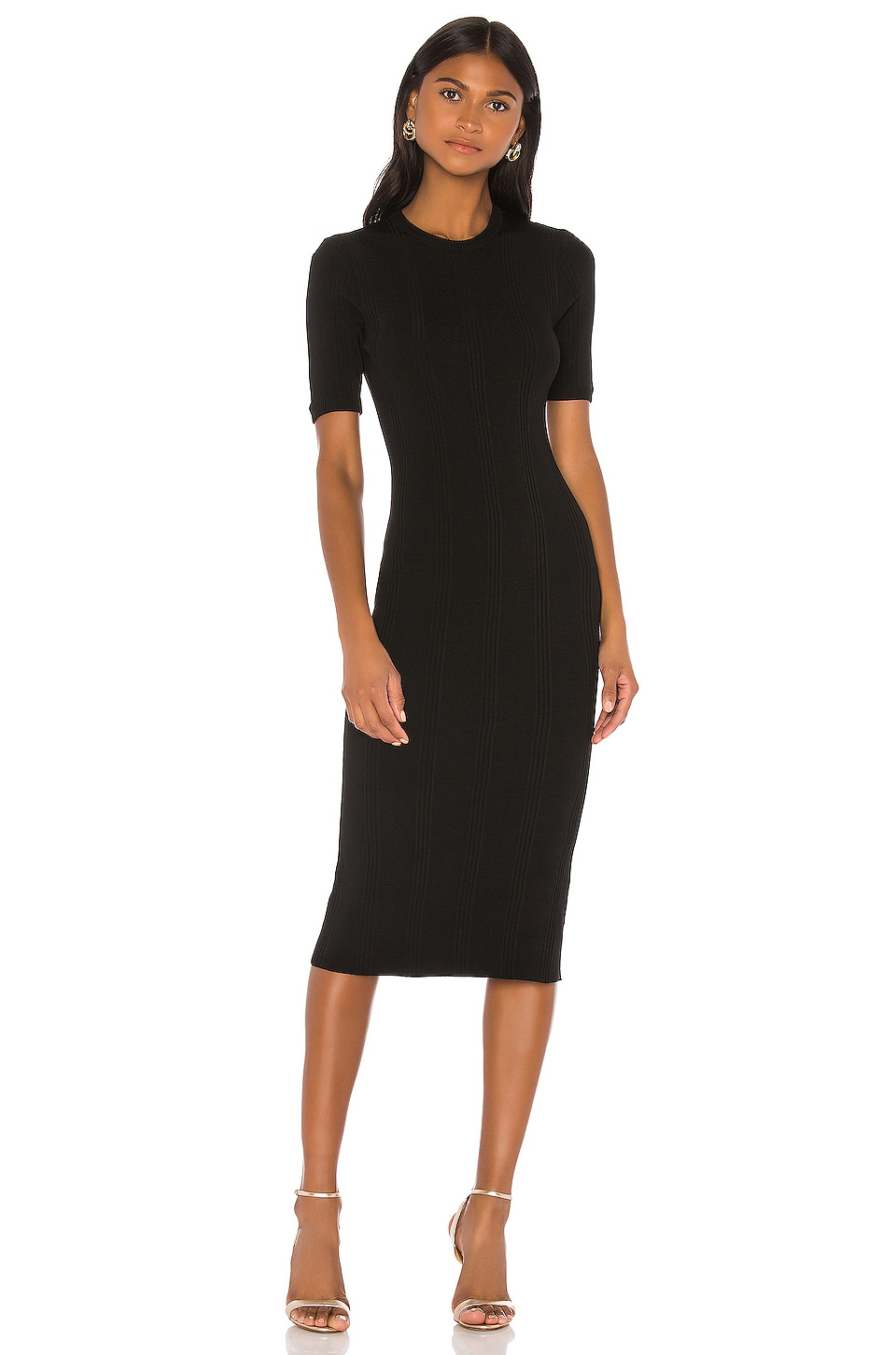 L'AGENCE Koller Sweater Dress in Black