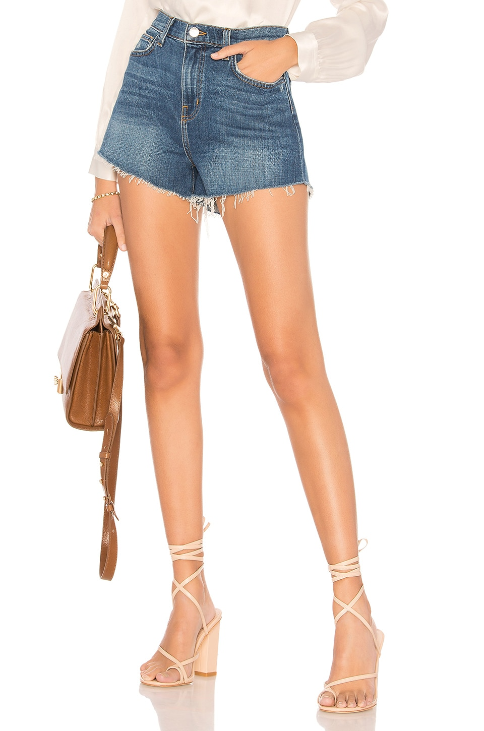 L'AGENCE Ryland High Waist Short in Authentique
