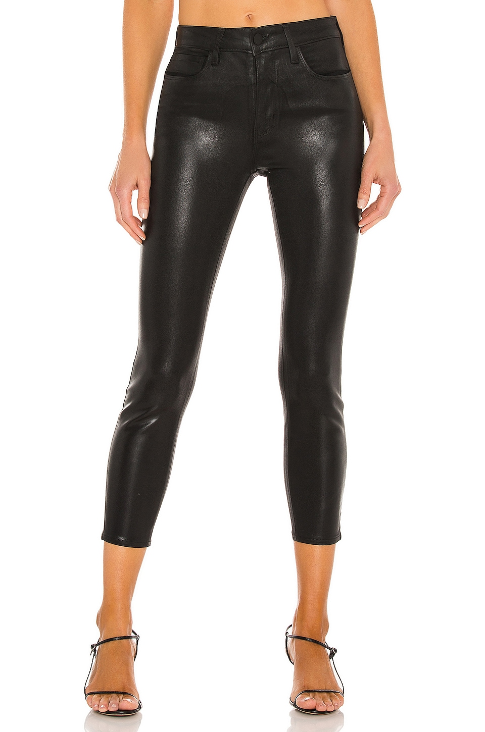 L'AGENCE Margot Skinny Jean in Black Coated