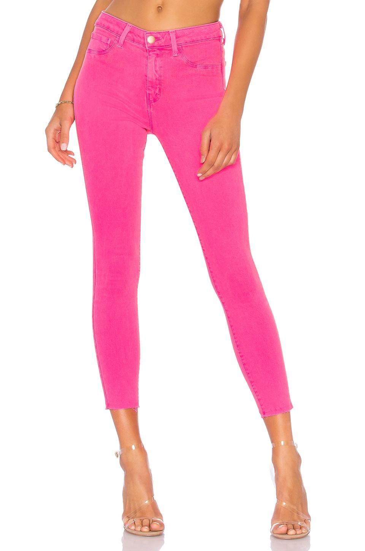 L'AGENCE Margot High Rise Skinny Jean in Flamingo