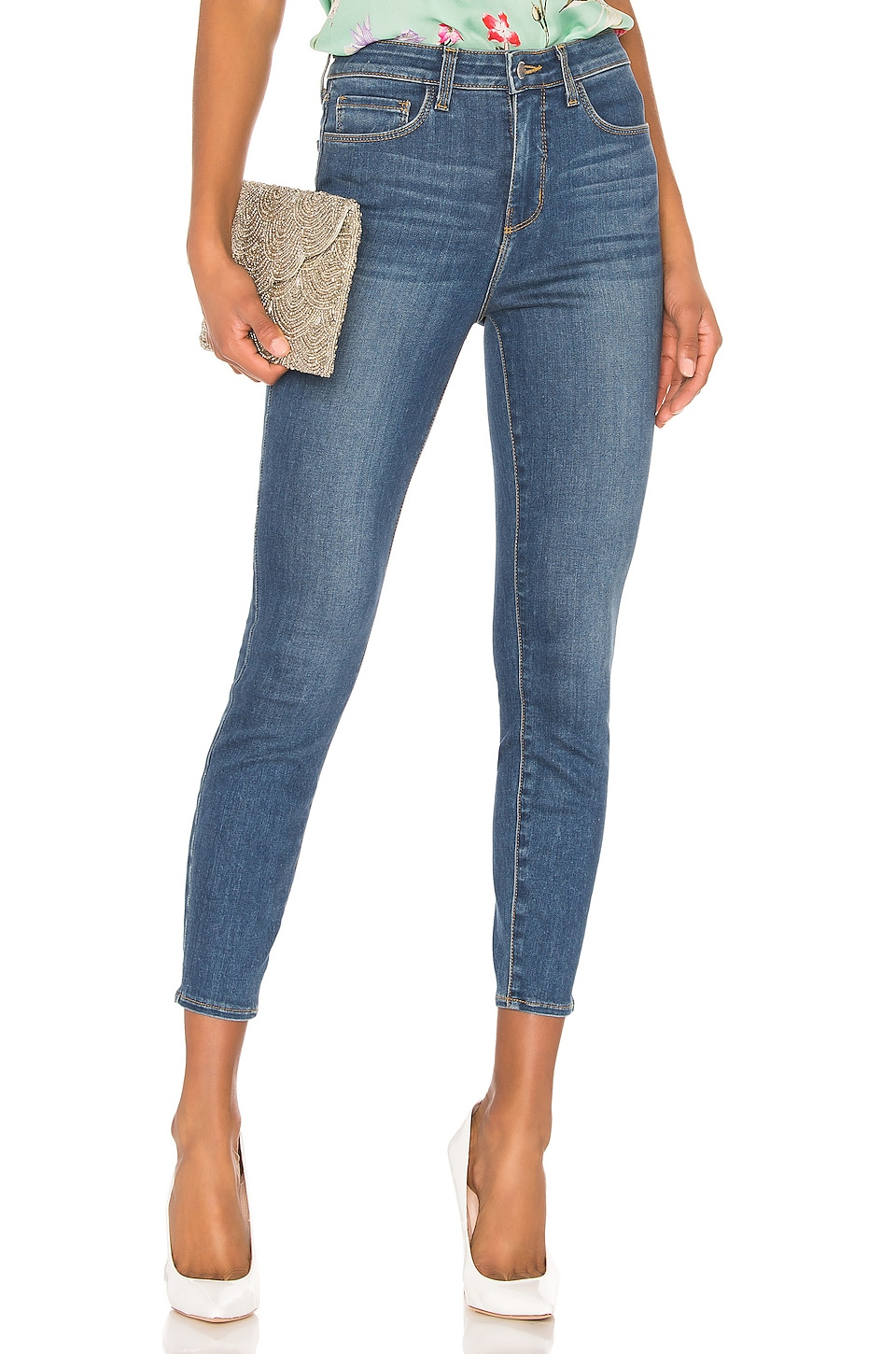 L'AGENCE Margot High Rise Skinny in Neptune