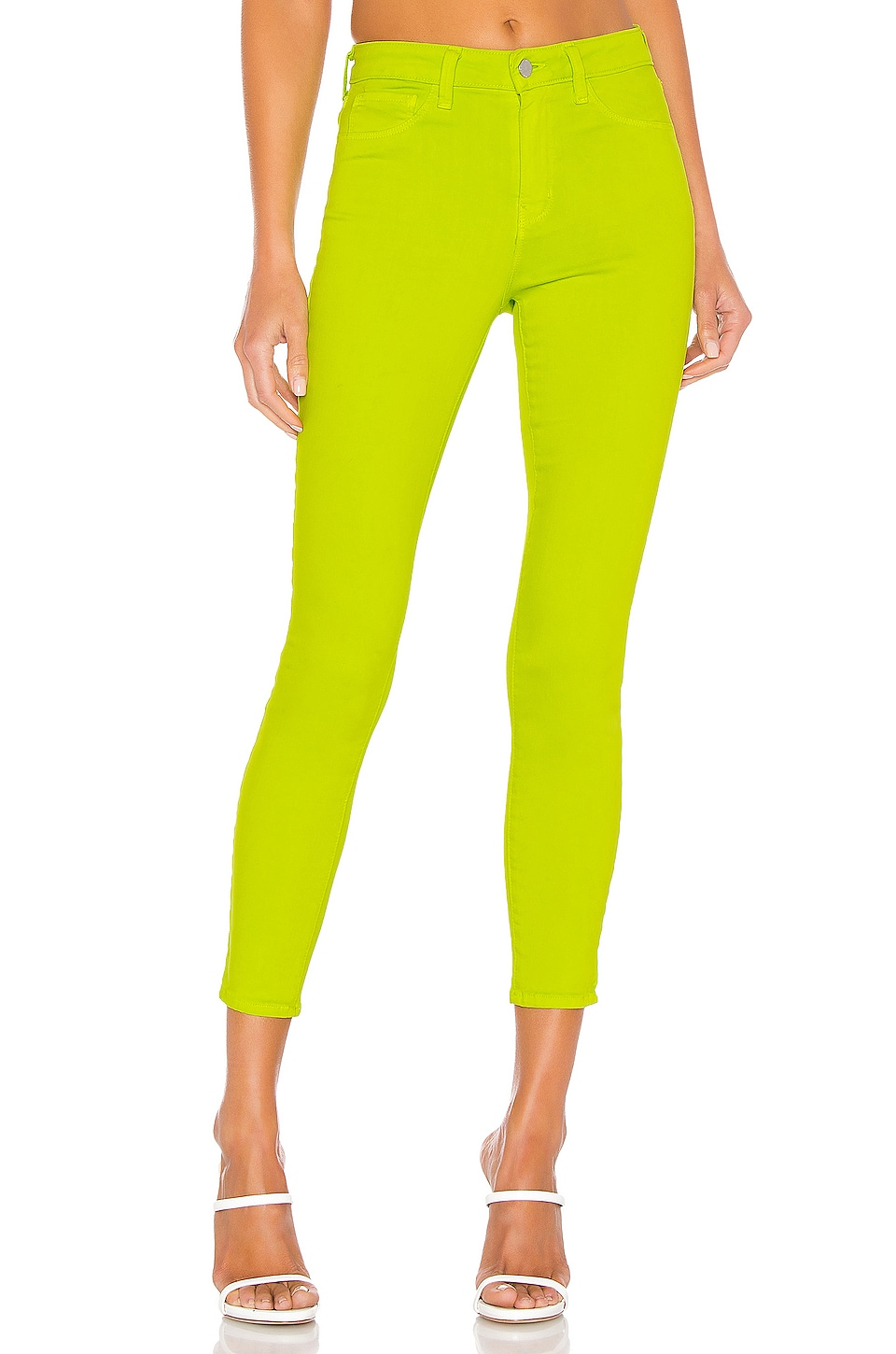 L'AGENCE Margot High Rise Skinny in Chartreuse