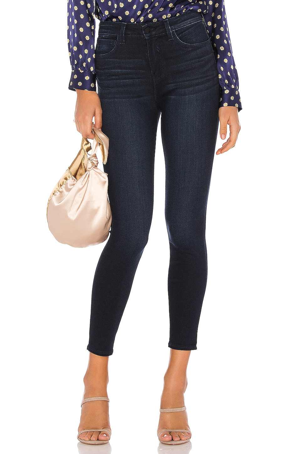 L'AGENCE Margot High Rise Skinny en Marino Blue