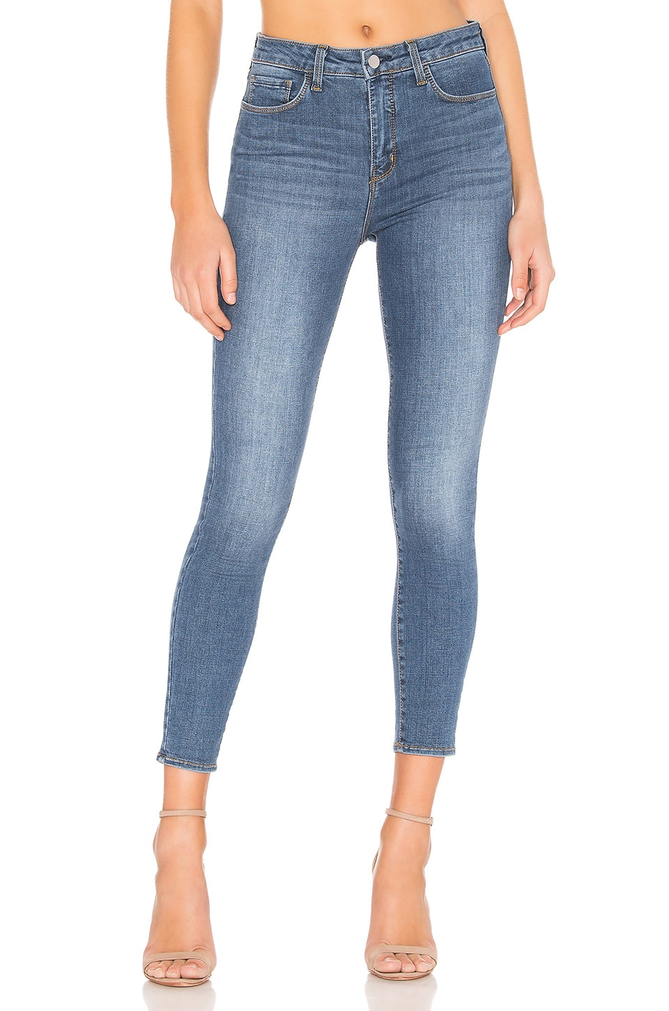 L'AGENCE Margot High Rise Skinny Jean in Light Vintage