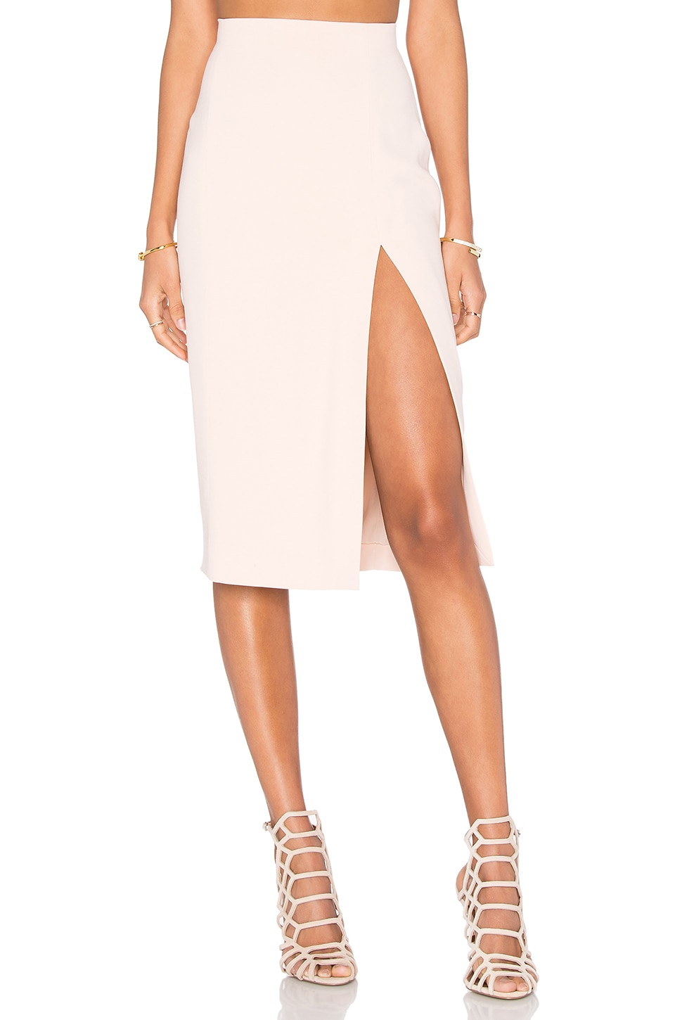L'AGENCE Yvonne Pencil Skirt in Quartz