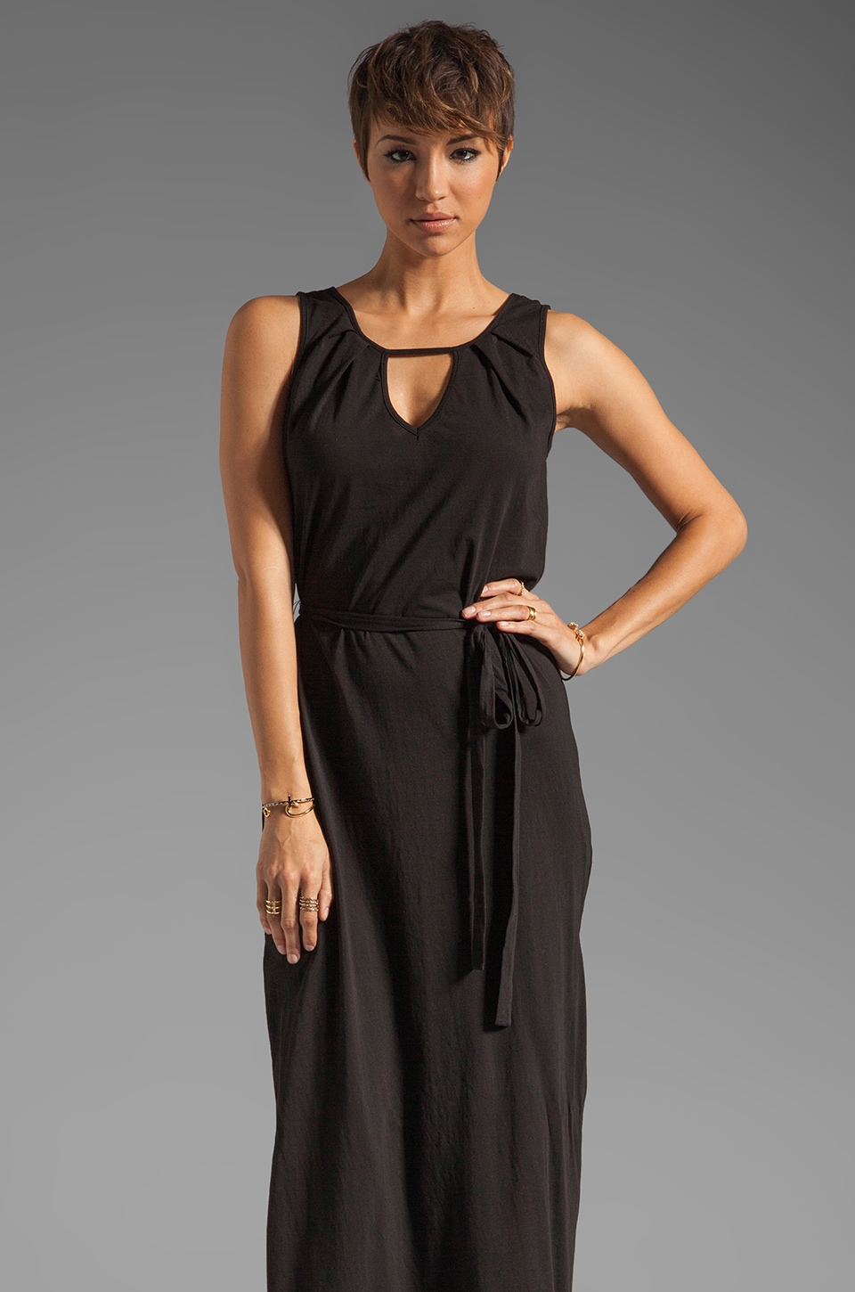 LA Made Tank Maxi Dress in Black