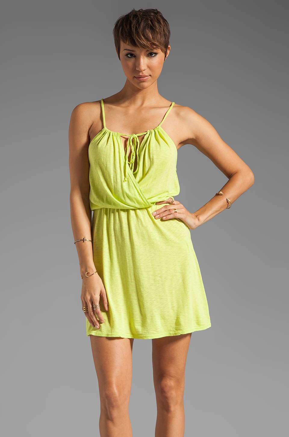 LA Made Surplice Cami Dress in Mojito