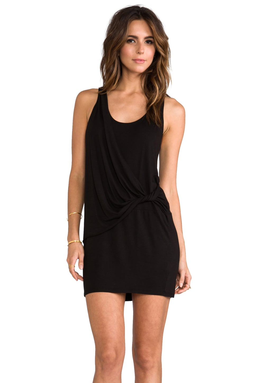 LA Made Wrap Tank Dress in Black