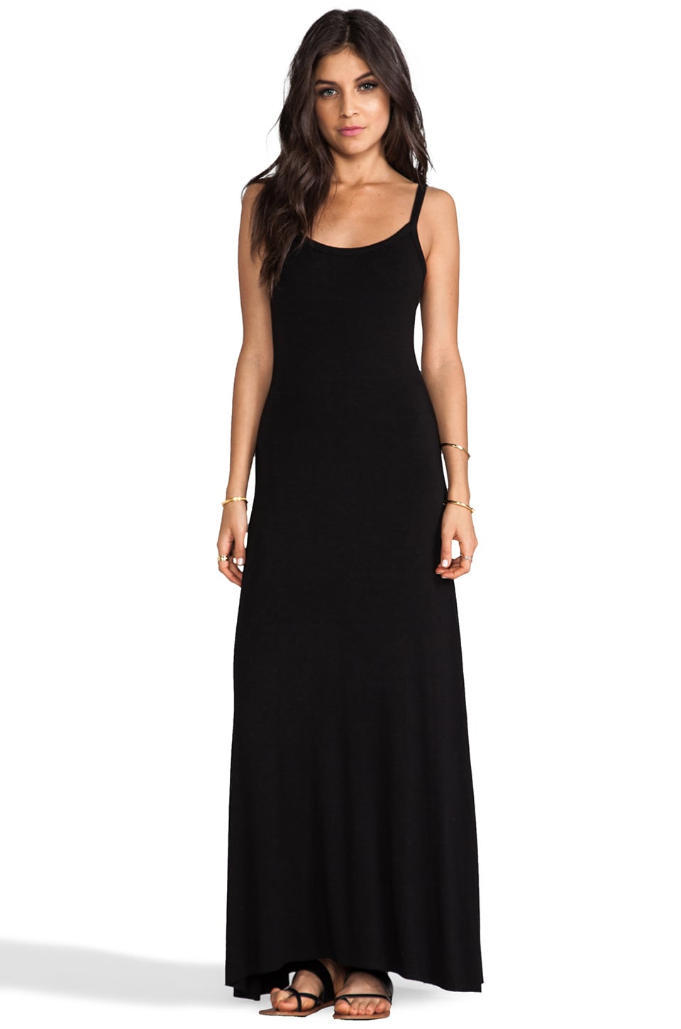 LA Made Cami Maxi Dress in Black