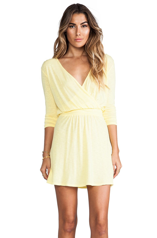 LA Made Long Sleeve Surplus Dress in Starling