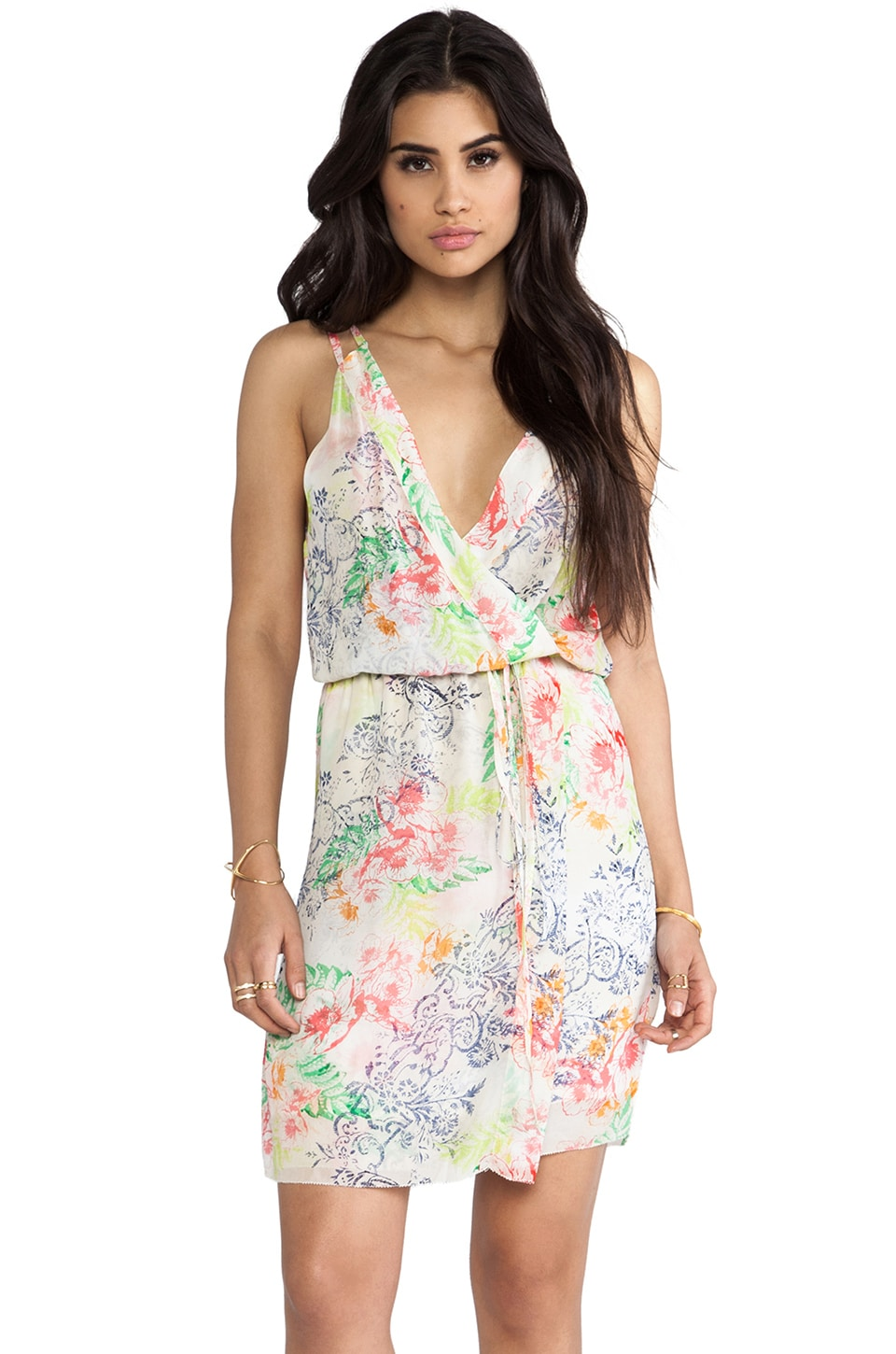LA Made Hawaiian Floral Cross Over Dress in Hawaiian Floral