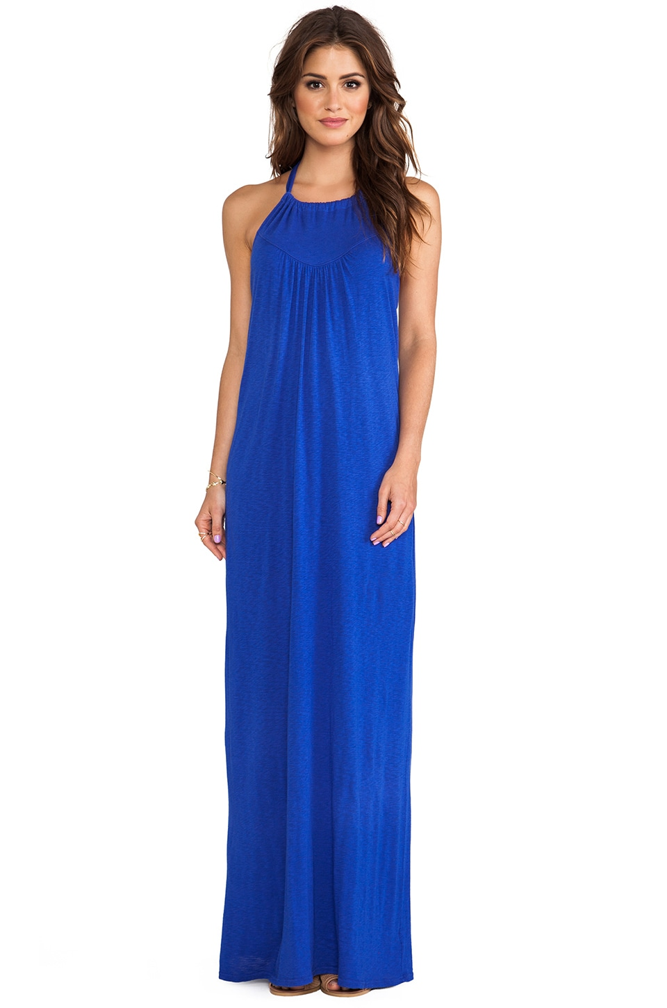 LA Made Halter Maxi Dress in Scuba