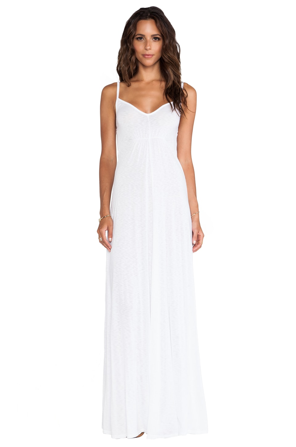 LA Made Cami Maxi Dress in White