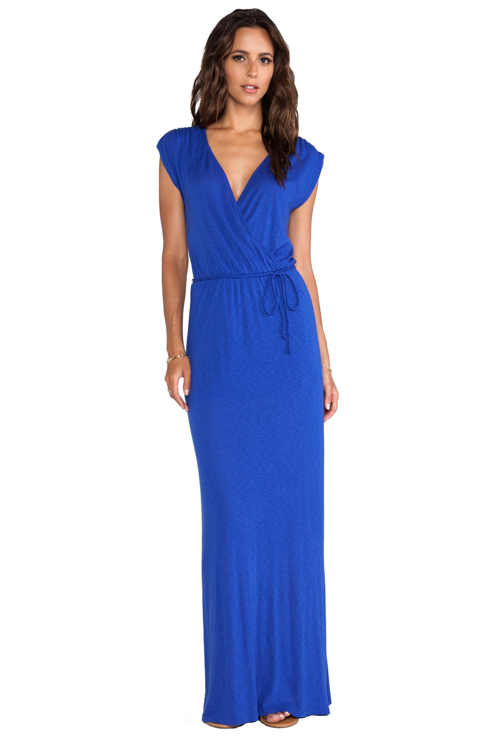 LA Made Wrap Maxi Dress in Scuba