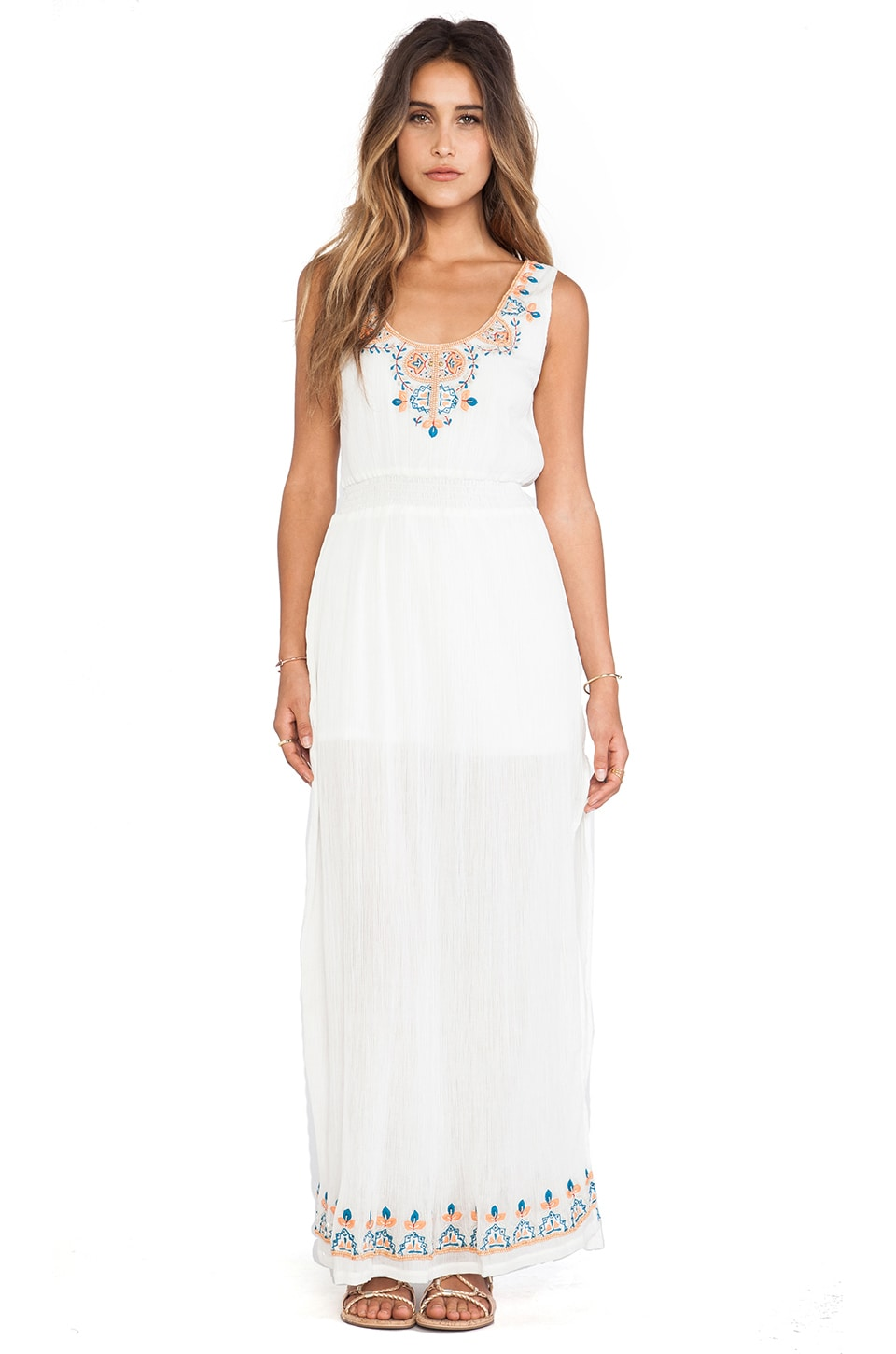 LA Made Playa Maxi Dress in White