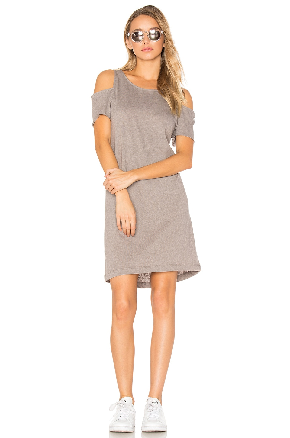 Zadeth Cold Shoulder Tee Dress by La Made