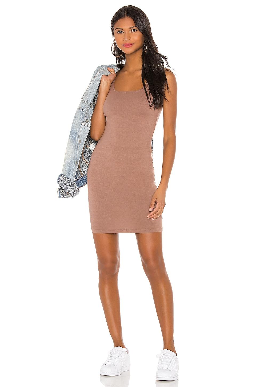 LA Made XYZ Dress in Deep Taupe