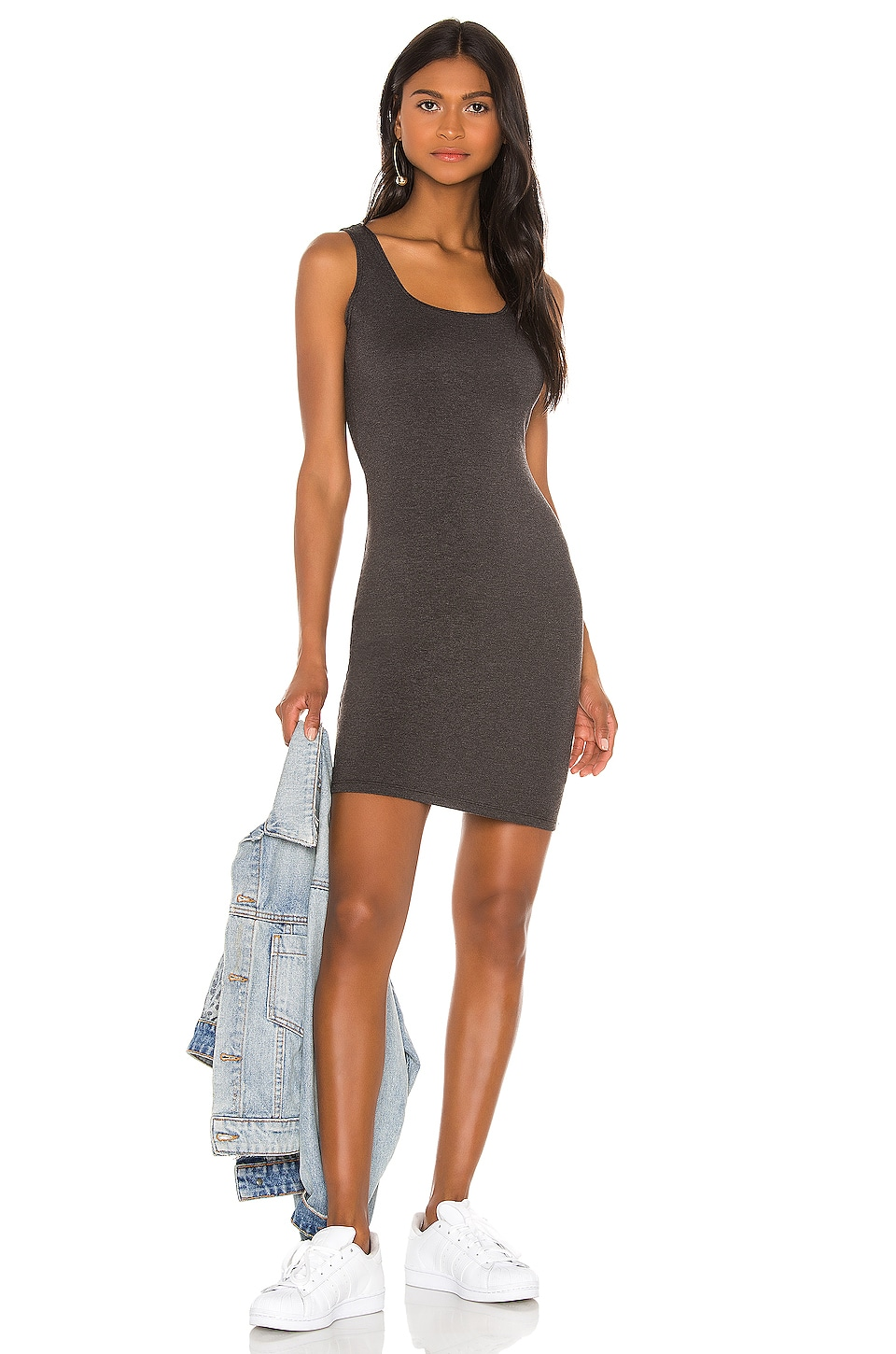 LA Made XYZ Dress in Anthracite