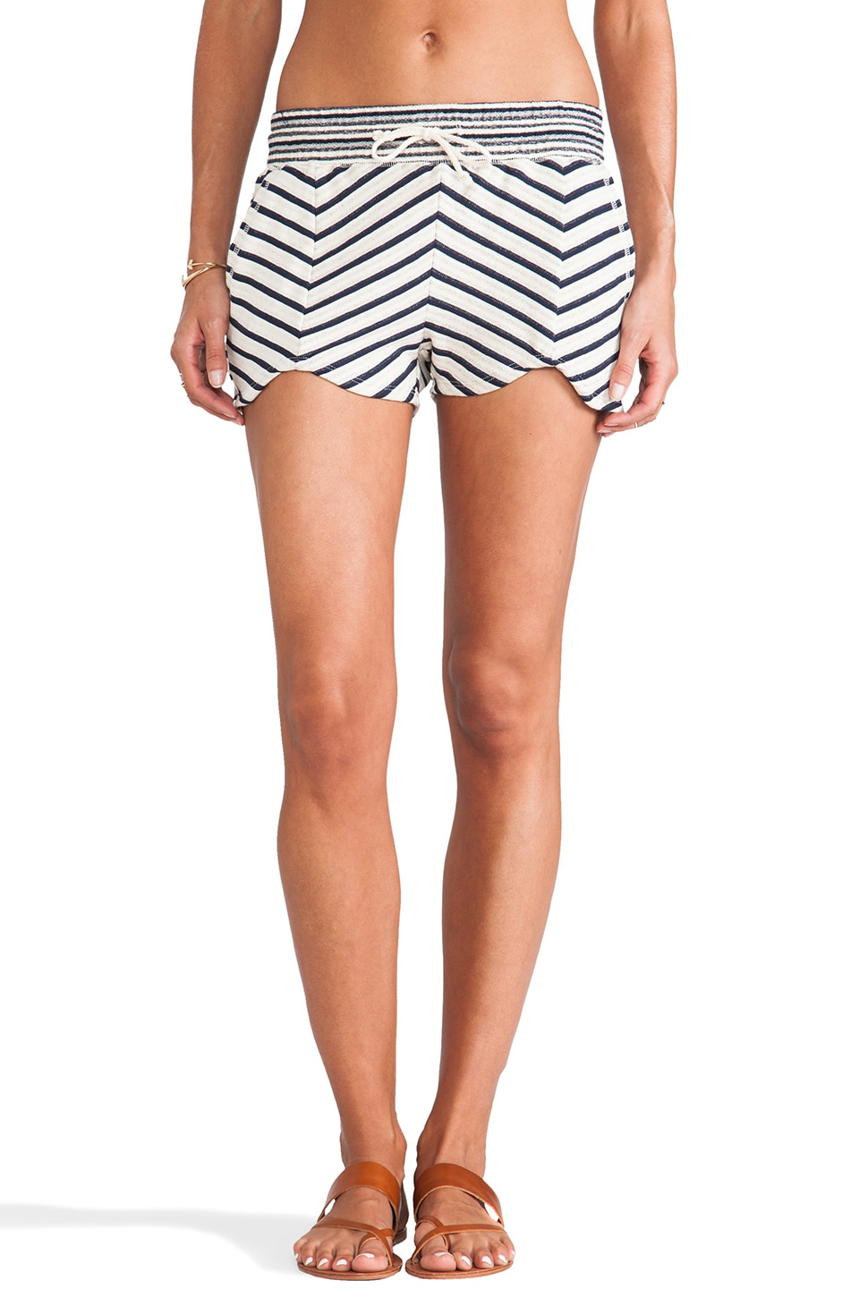 LA Made Striped Short in Navy & Cream