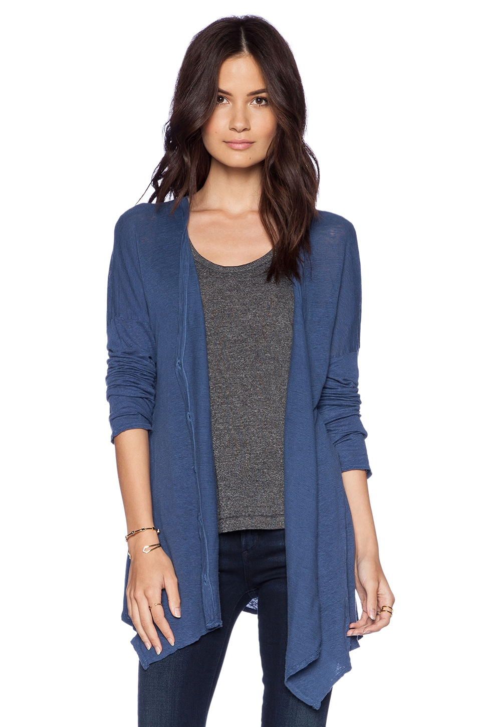 LA Made Swing Button Cardigan in Starry Night