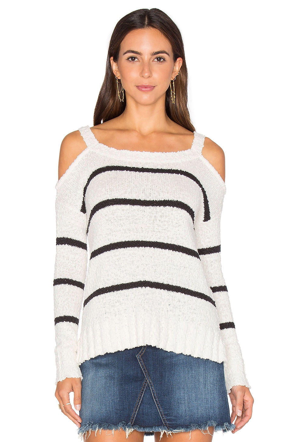 Kim Cold Shoulder Sweater by LA Made
