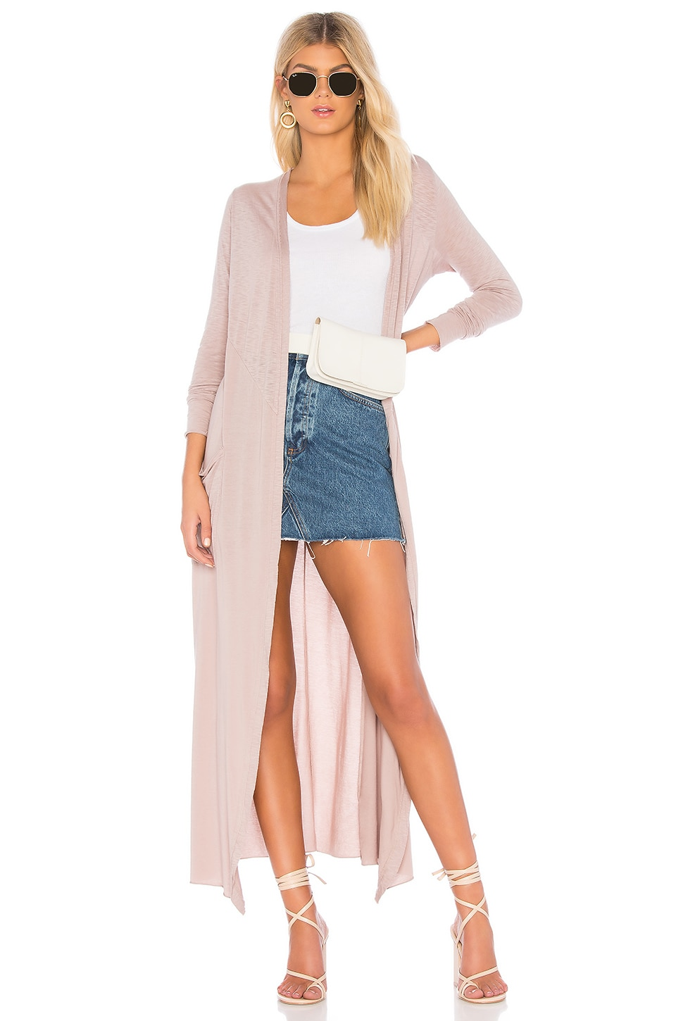 LA MADE Reed Duster Cardigan in Taupe