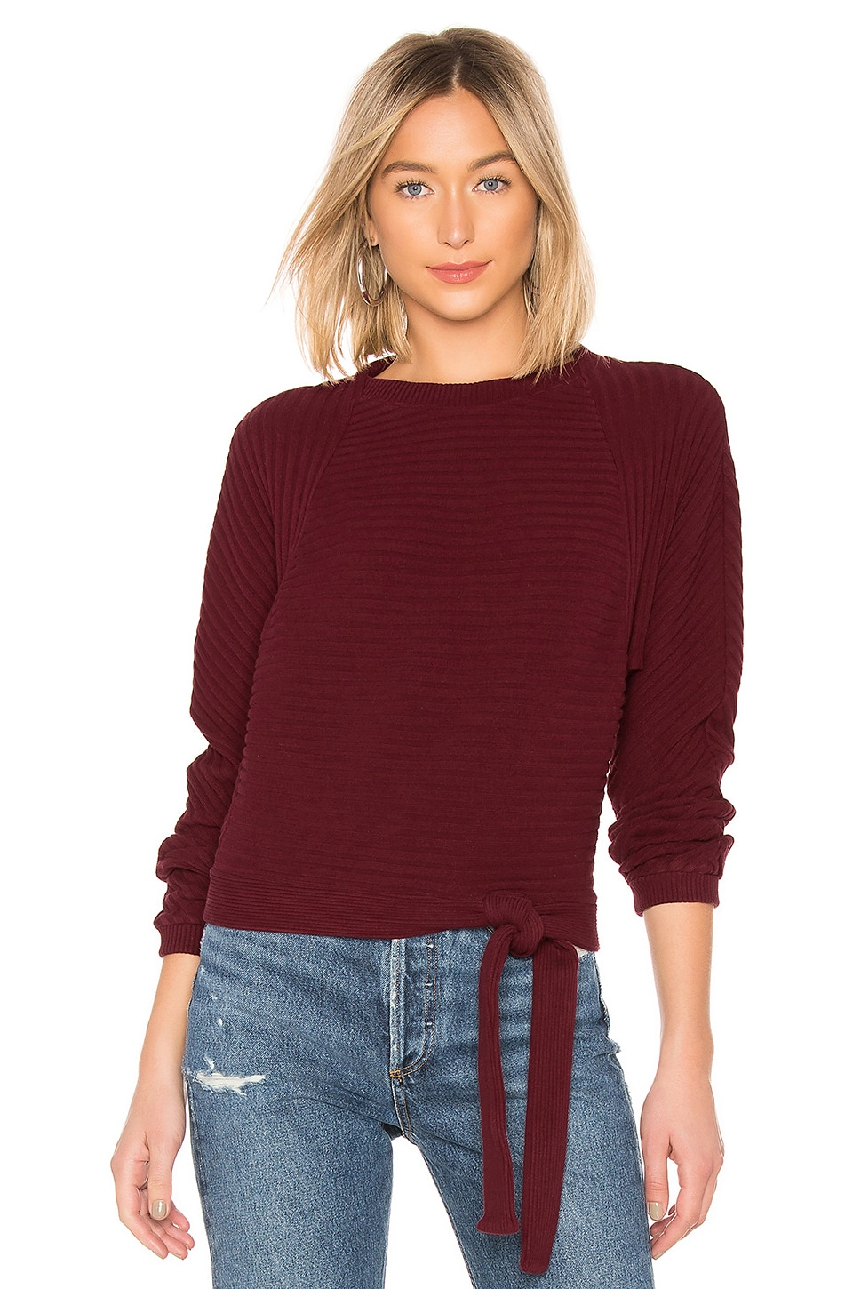 LA Made Foster Pullover in Wineberry