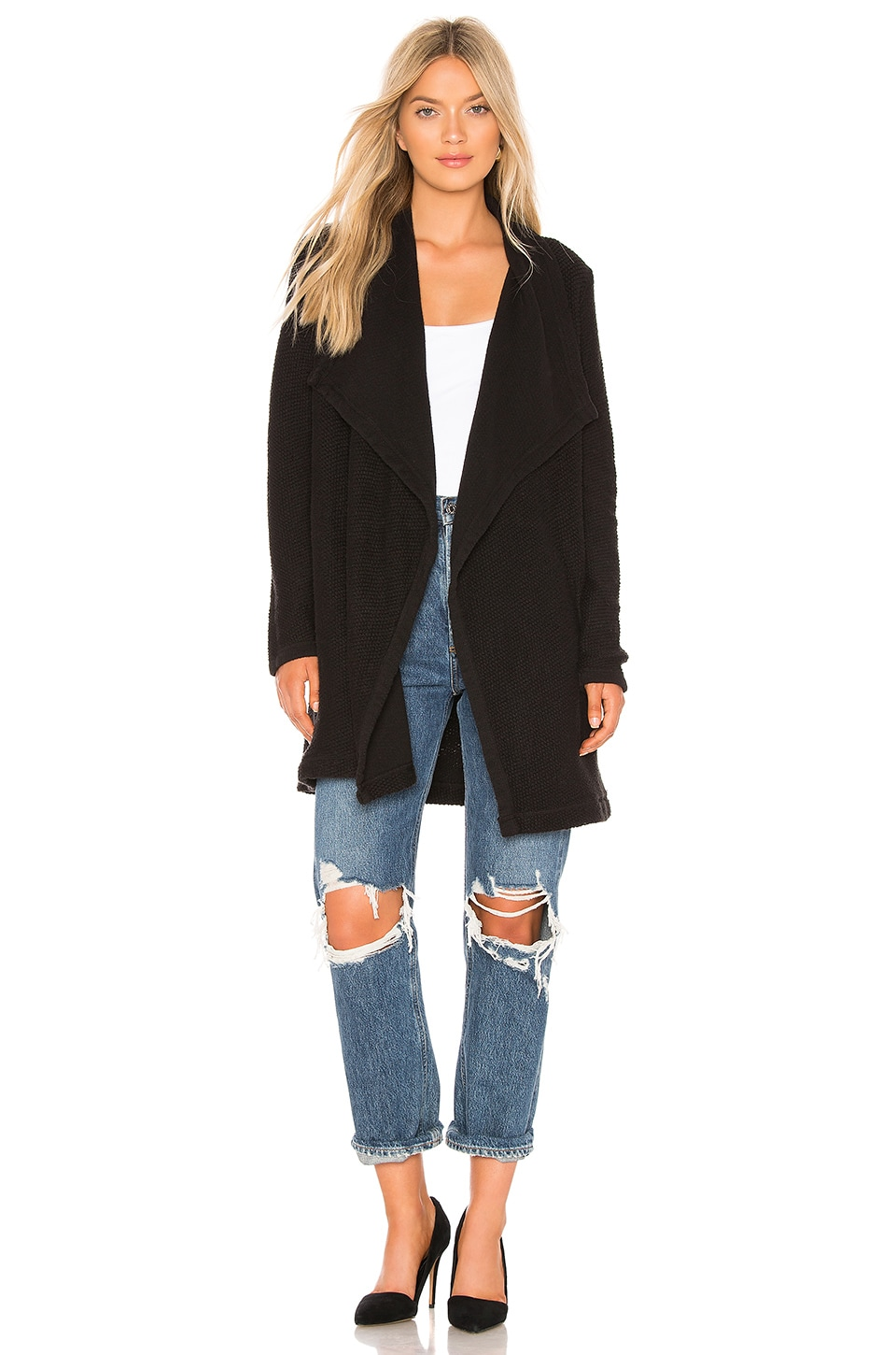 LA Made Stellair Cardigan in Black