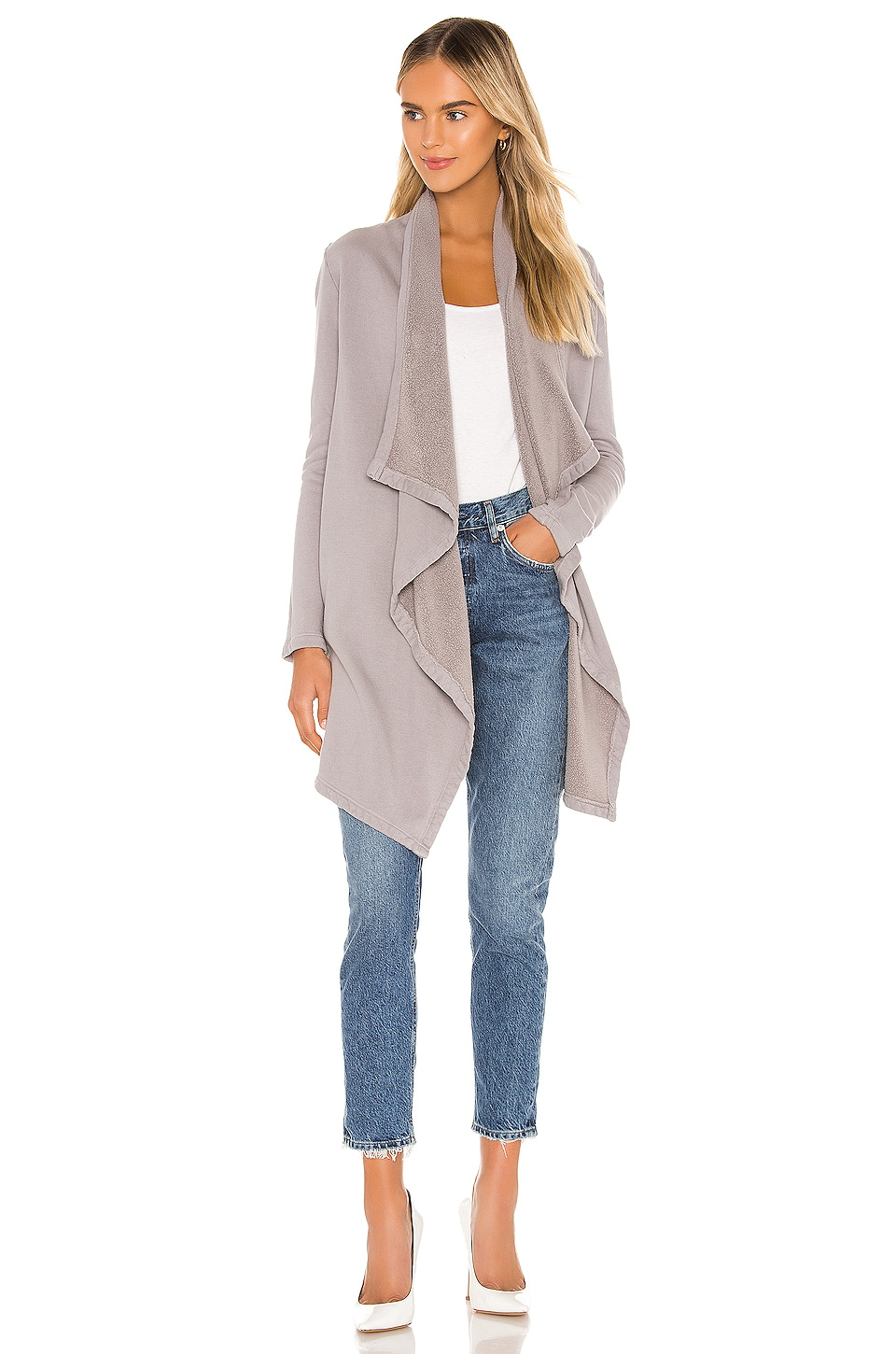 LA Made Aria Essential Cardigan in On The Rocks