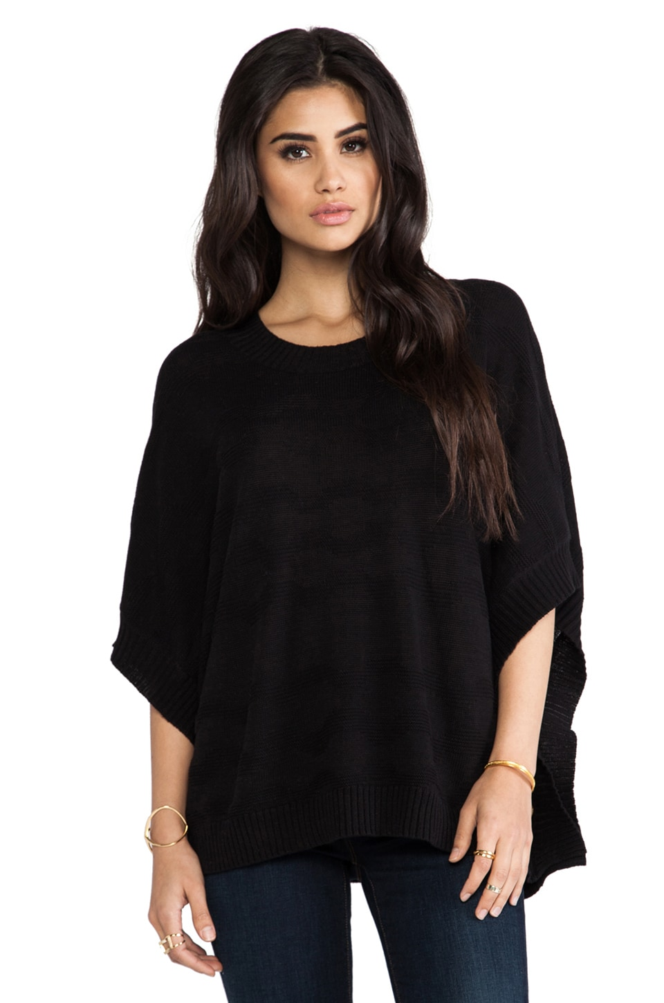 LA Made Poncho in Black