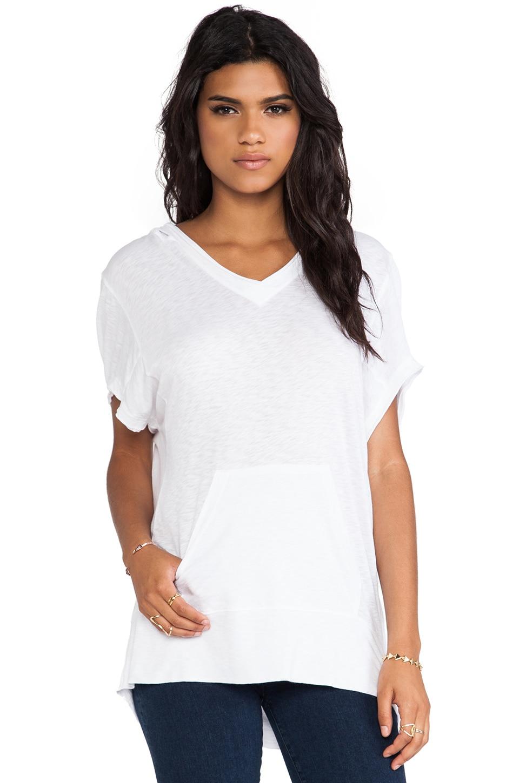 LA Made Short Sleeve Lounge Hoodie in White