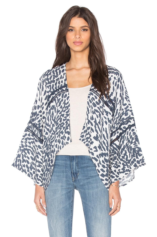 LA Made Mara Kimono in Charcoal Combo