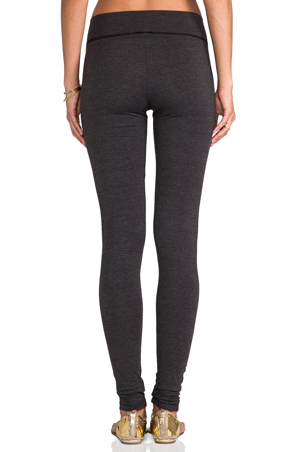 LA Made Lycra Jersey Legging in Anthracite