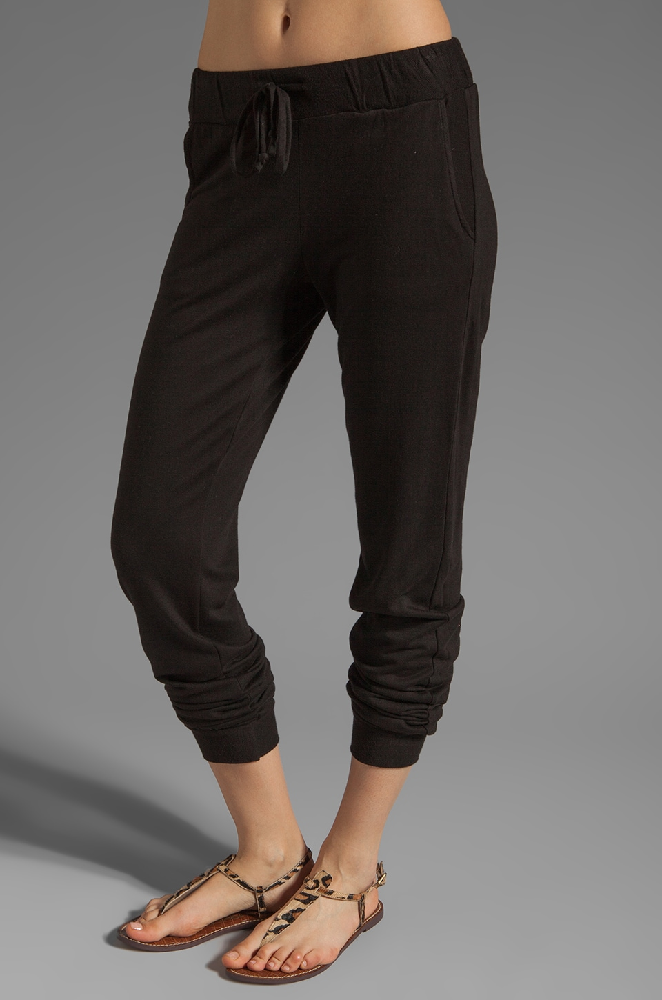 LA Made French Terry Slouchy Sweatpant in Black
