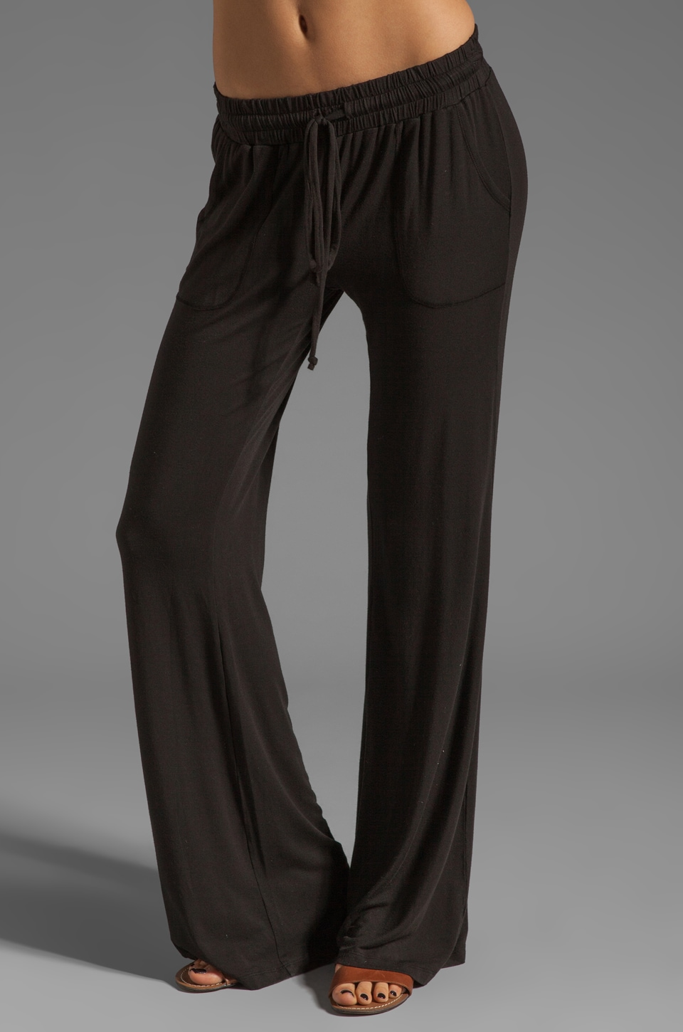 LA Made Drawstring Easy Pants in Black