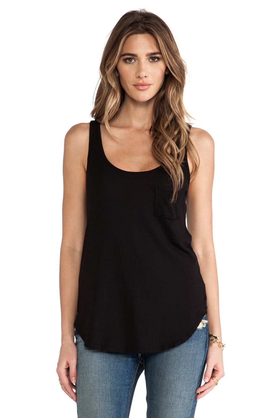 LA Made Slub Boyfriend Tank in Black
