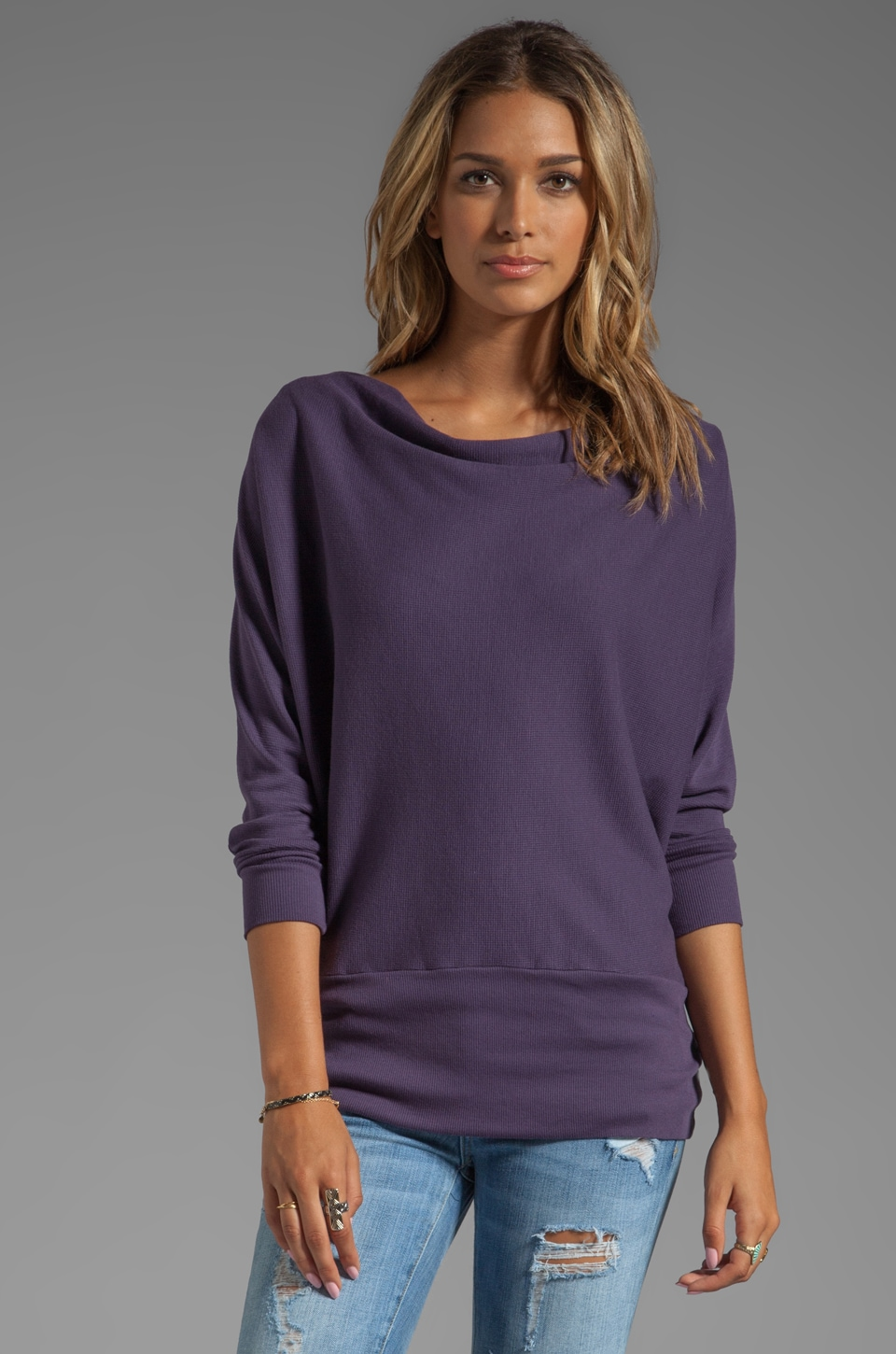 LA Made Aiden Dolman Thermal Long Sleeve in Deep Iris