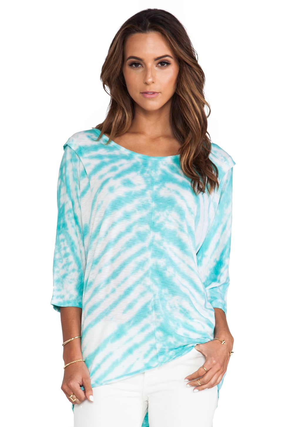 LA Made Oversized Dolman Tunic in Bermuda