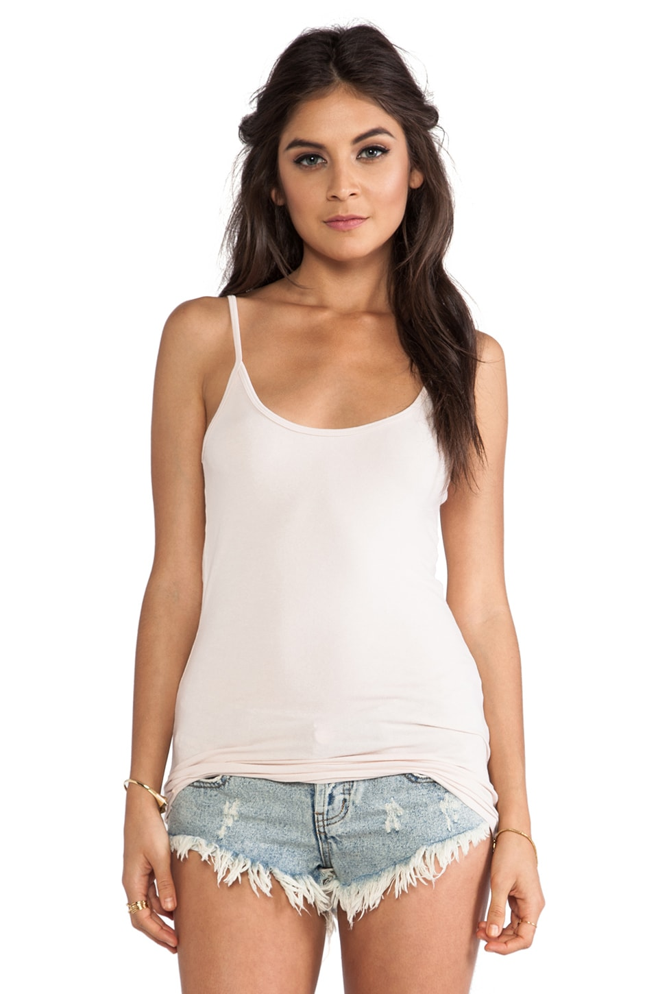 LA Made Deep Scoop Tank in Seed Pearl