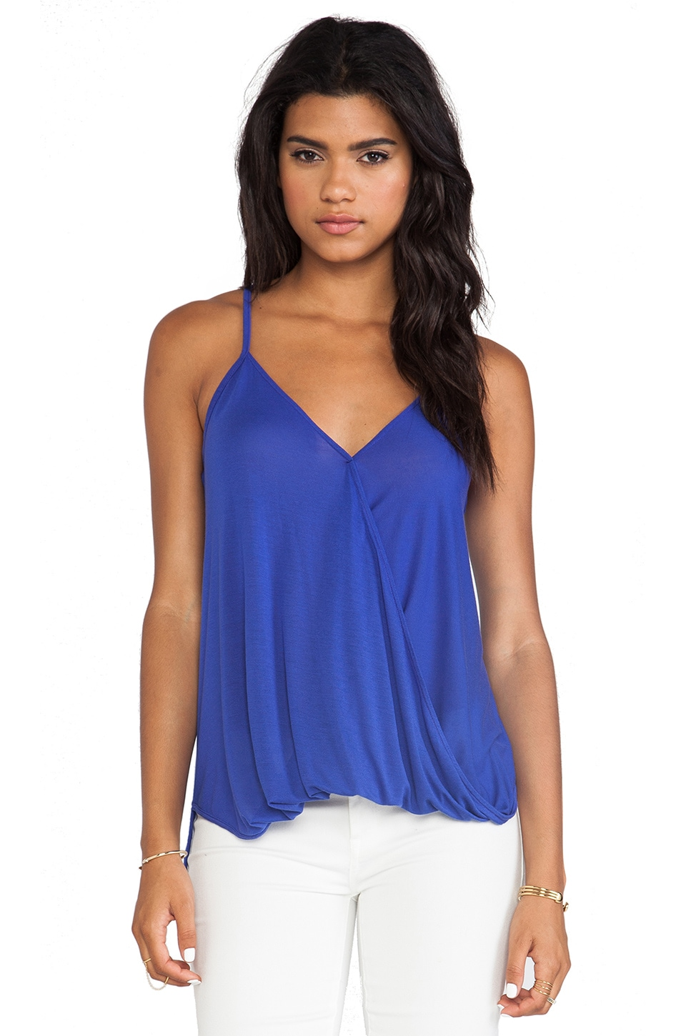 LA Made Hi Lo Wrap Top in Scuba