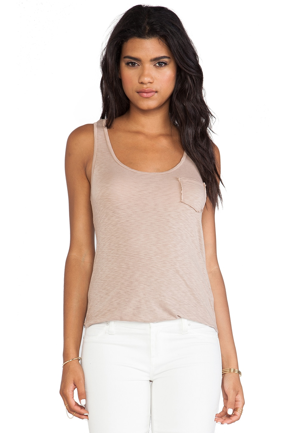 LA Made Boyfriend Tank in Sand Dollar