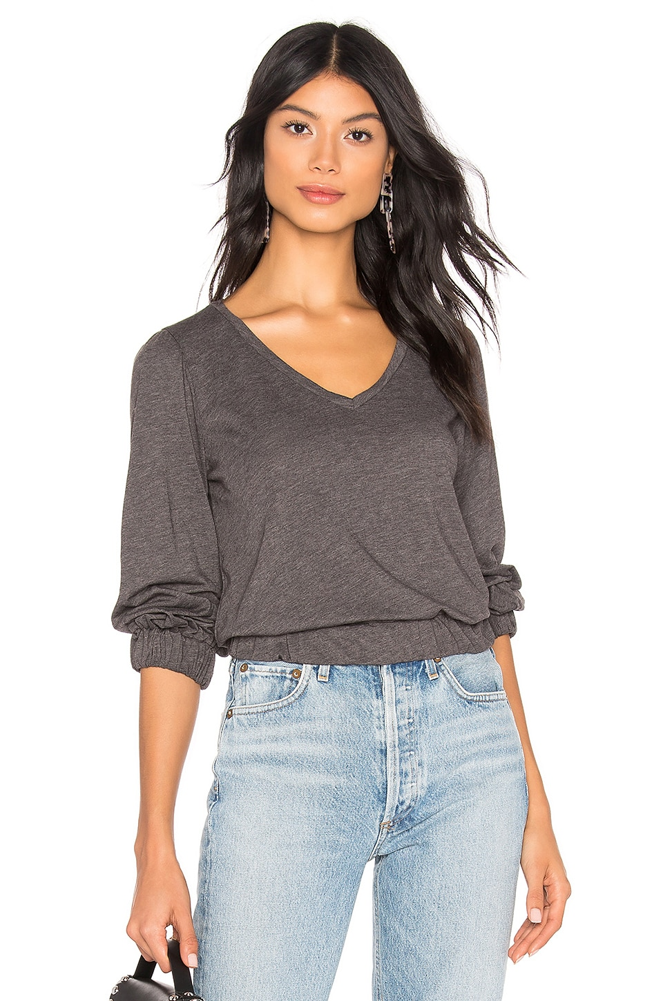 LA Made Kat Top in Anthracite