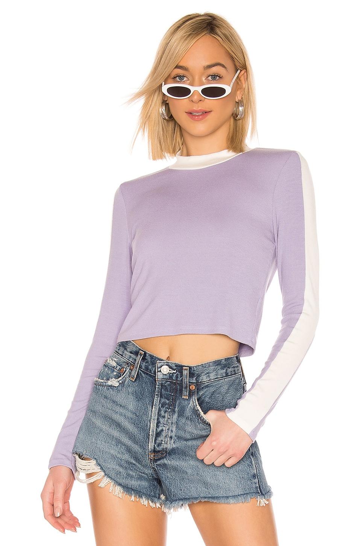 LA Made Vic Crop Top in Heirloom Lilac